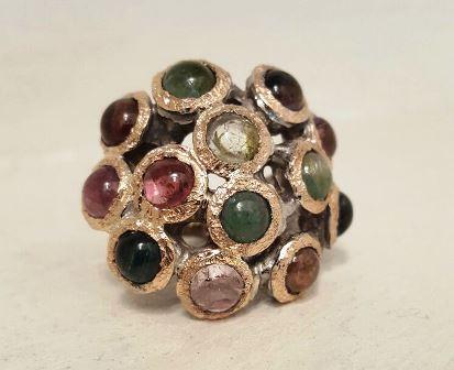 tourmaline: tormalina anello Fiore All'Occhiello Gioielli